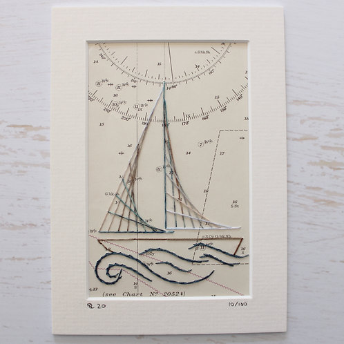 Limited Edition 5x7 Inch Sailing Boat 10/100