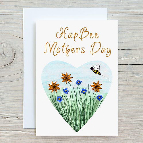 HapBee Mothers Day Greetings Card A5