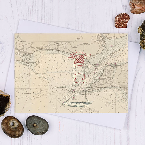Needles Lighthouse Greetings Card