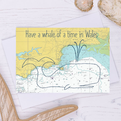 Have a Whale of a Time in Wales Greetings Card