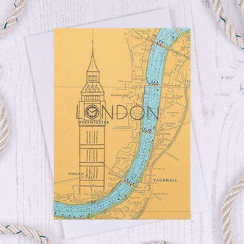 Big Ben London Greetings Card