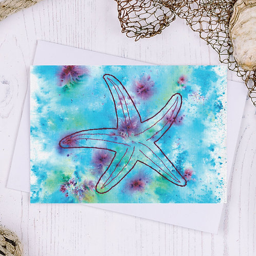 Starfish Greetings Card