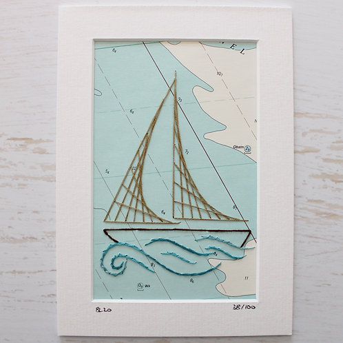 Limited Edition 5x7 Inch Sailing Boat 38/100