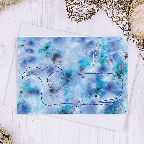 Whale Greetings Card - A6