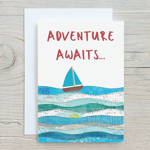 Adventure Awaits Card - Can be personalised A5