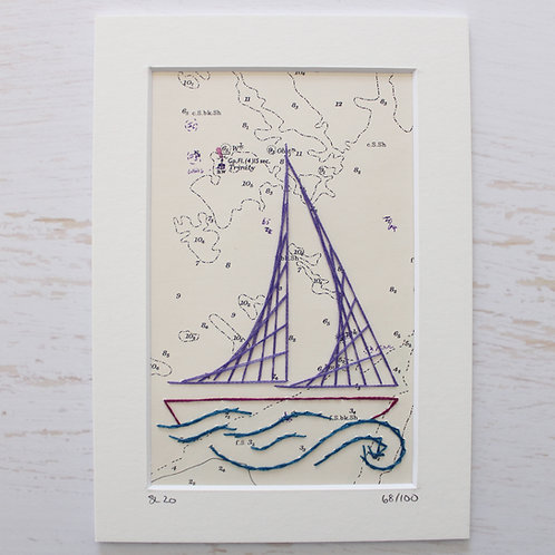 Limited Edition 5x7 Inch Sailing Boat 68/100