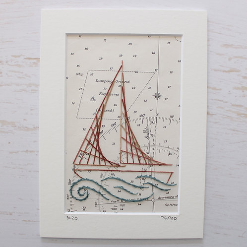 Limited Edition 5x7 Inch Sailing Boat 76/100