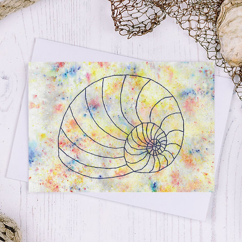 Shell Greetings Card - A6