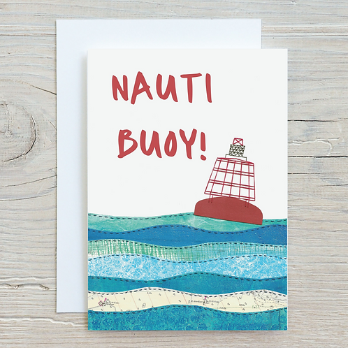 Nauti Buoy Card - Can be personalised A5
