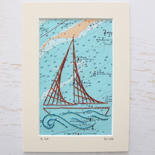 Limited Edition 5x7 Inch Sailing Boat 55/100