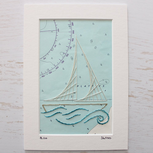 Limited Edition 5x7 Inch Sailing Boat 36/100