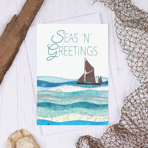 Sea N Greetings Thames Sailing Barge Christmas Card