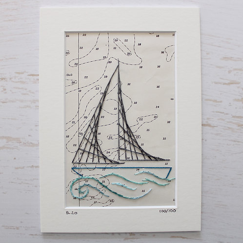 Limited Edition 5x7 Inch Sailing Boat 100/100