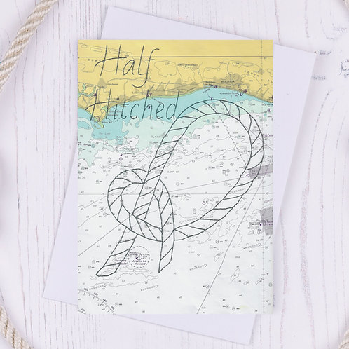 Half Hitched Greetings Card - A6