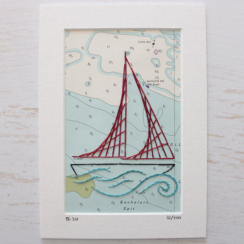 Limited Edition 5x7 Inch Sailing Boat 31/100