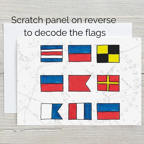 Celebrate, Hidden Message Scratch Card, A5