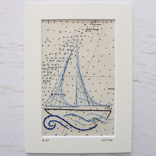 Limited Edition 5x7 Inch Sailing Boat 63/100