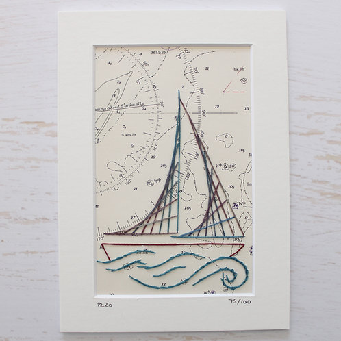 Limited Edition 5x7 Inch Sailing Boat 75/100