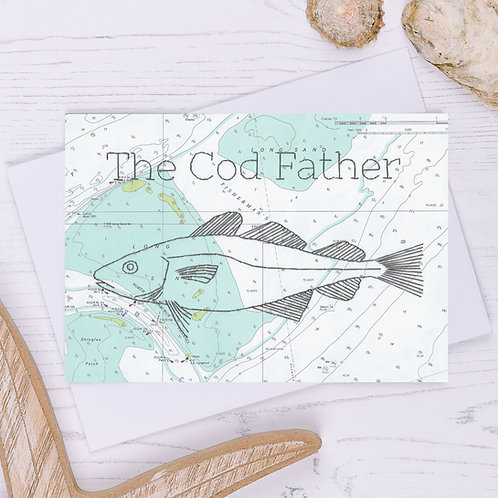 The Cod Father Greetings Card