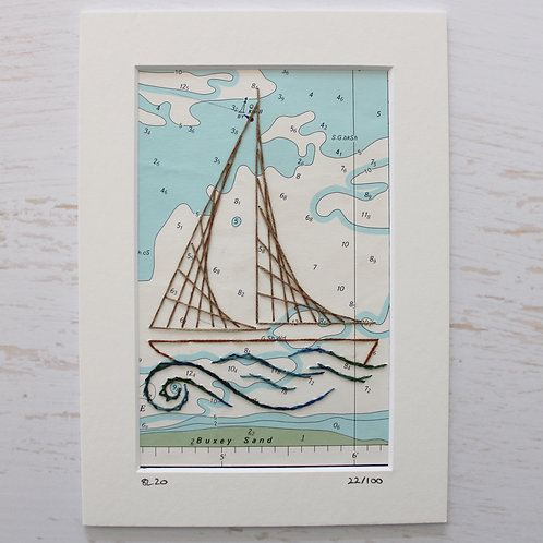 Limited Edition 5x7 Inch Sailing Boat 22/100