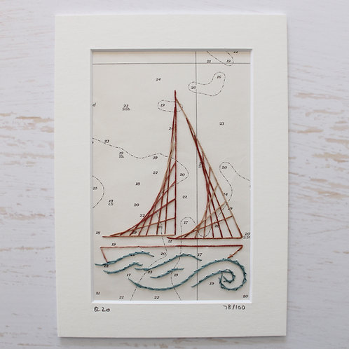 Limited Edition 5x7 Inch Sailing Boat 78/100