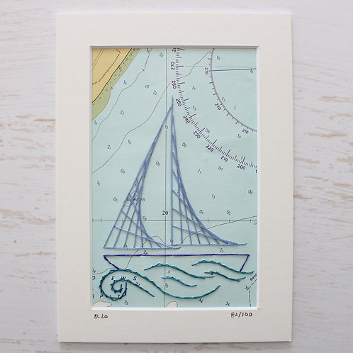 Limited Edition 5x7 Inch Sailing Boat 82/100