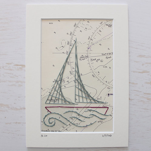 Limited Edition 5x7 Inch Sailing Boat 69/100