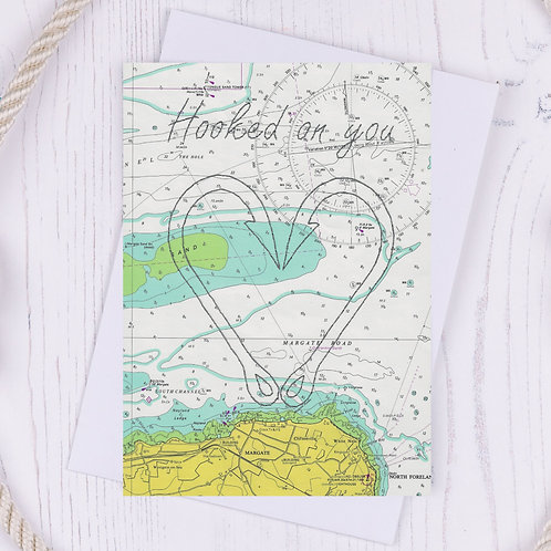 Hooked on You Greetings Card - A6