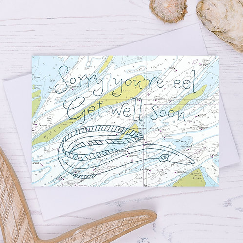 Sorry You're Eel Greetings Card - A6