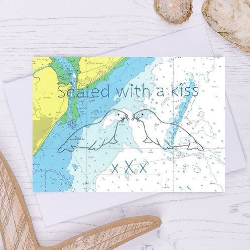 Sealed with a Kiss Greetings Card - A6