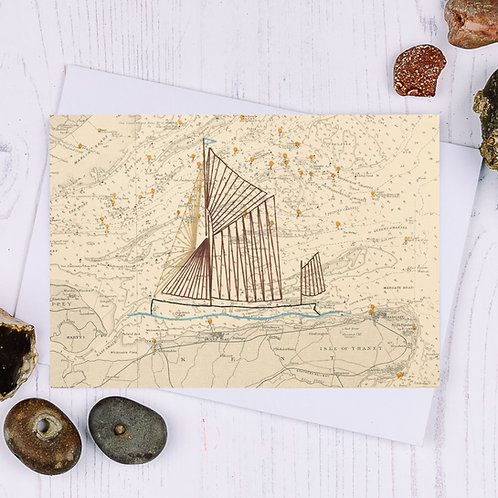 Thames Sailing Barge Greetings Card - A6