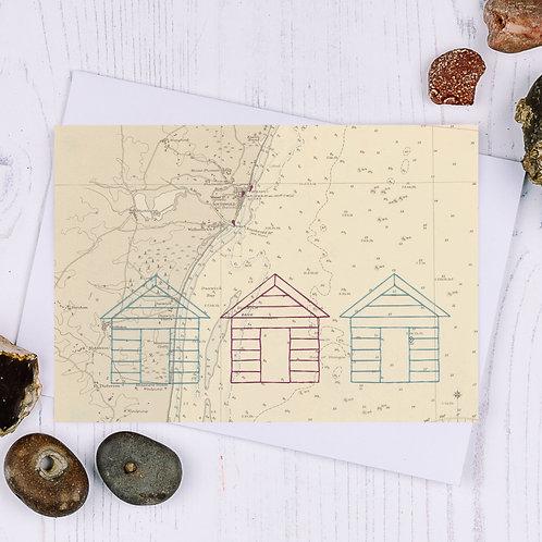 Beach Huts Greetings Card - A6