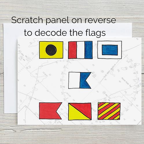 It's a Boy, Hidden Message Scratch Card, A5
