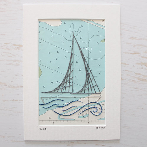 Limited Edition 5x7 Inch Sailing Boat 90/100