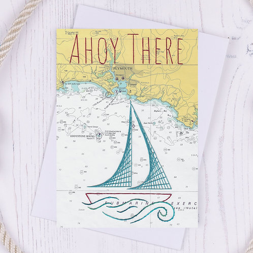 Ahoy There Greetings Card - A6