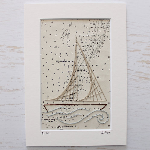 Limited Edition 5x7 Inch Sailing Boat 57/100