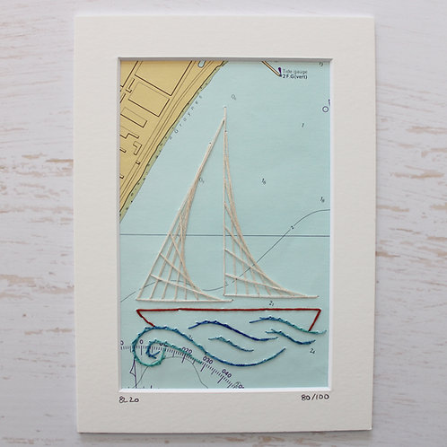 Limited Edition 5x7 Inch Sailing Boat 80/100