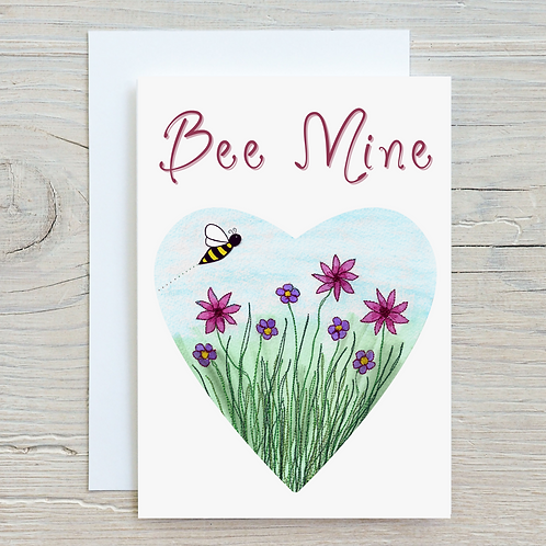 Bee Mine Card - Can be personalised A5