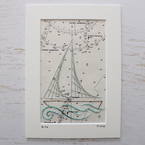 Limited Edition 5x7 Inch Sailing Boat 97/100