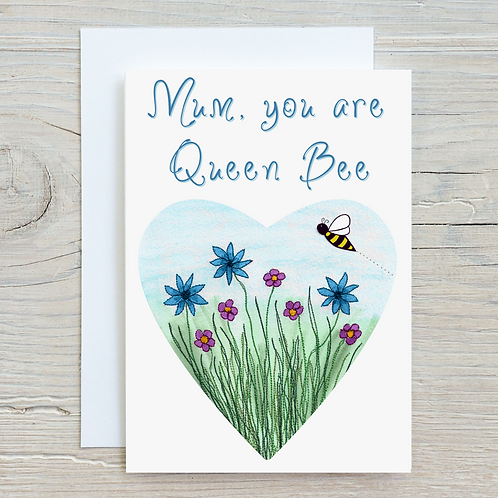 Mum, you are Queen Bee Greetings Card A5