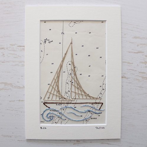 Limited Edition 5x7 Inch Sailing Boat 96/100