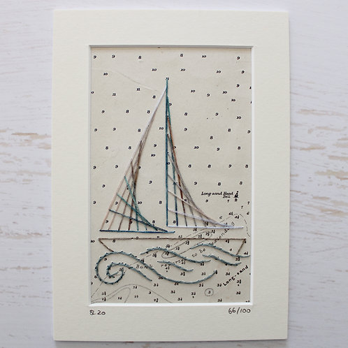 Limited Edition 5x7 Inch Sailing Boat 66/100
