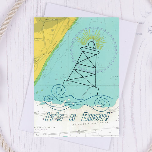 SALE - It's a buoy Greetings Card