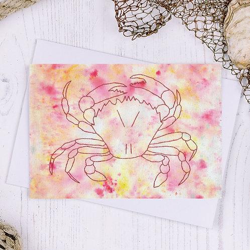Crab Greetings Card - A6