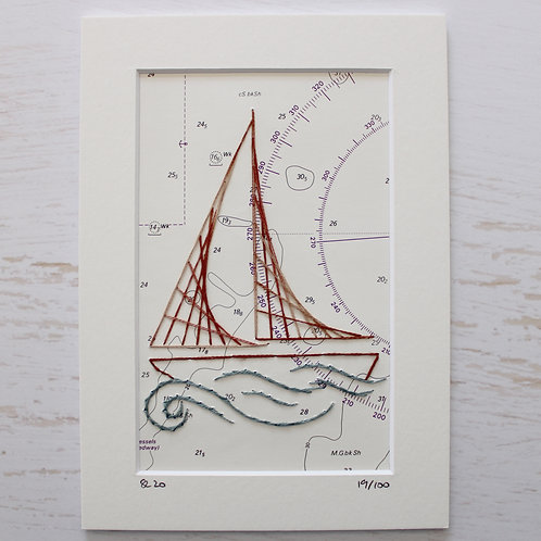 Limited Edition 5x7 Inch Sailing Boat 19/100
