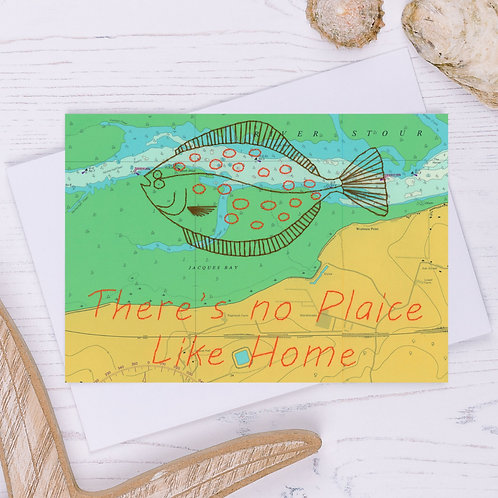 There's No plaice Like Home Greetings Card - A6