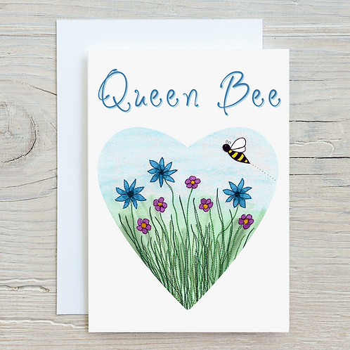 Queen Bee Card - Can be personalised A5