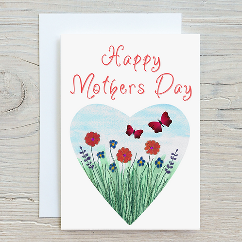 Happy Mothers Day Greetings Card A5