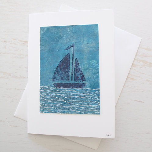 Handmade 5x7 inch Art Card