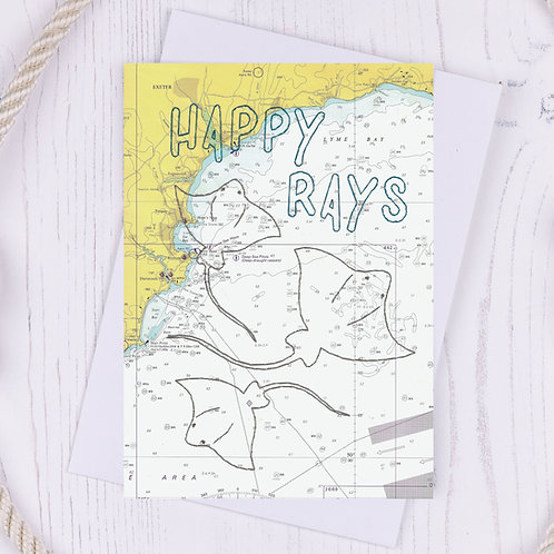 Happy Rays Greetings Card - A6